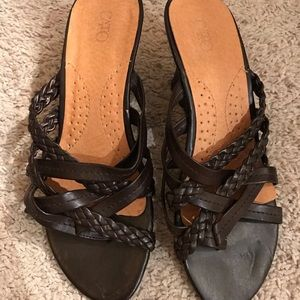 Cato Shoes - Brown straps wedges